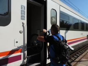 Sortint de l'estació de Reus.  Foto:R.Buigues